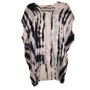 CAbi tie dye 100% silk blouse size Large